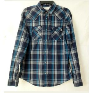 Aeropostale Shirt Blue Size M Women Plaid Cotton